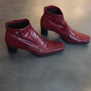 Franco Sarto leather square toe booties